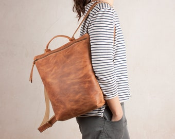 Leather backpack purse, brown backpack, brown leather backpack, women brown backpacks, backpack leather, leather backpacks, women packpacks