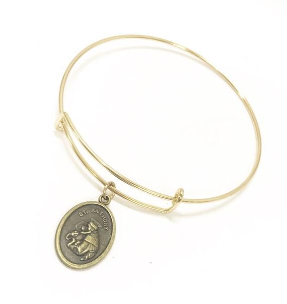 St. Anthony Bracelet, Saint Anthony Jewelry, Patron Saint Of Lost Things, St. Anthony Of Padua, Patron Saint Jewelry, Religious Jewelry Gift