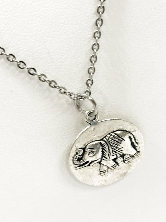 Elephant Necklace, Elephant Jewelry, Elephant Gift, Friend Gift, Elephant Lover Necklace, Power Necklace, Good Luck Necklace, Good Luck Gift