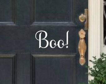Halloween Door Decal Halloween Decal Boo Door Decal Boo Vinyl Decal Boo Decal Boo Vinyl Door Decal Front Door Decal Holiday Door Decal