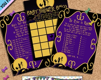Nightmare before Christmas Party Games baby shower games Wishes for baby price is right baby bingo