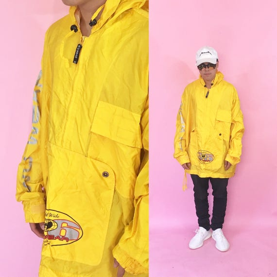 Wu wear jacket vintage windbreaker wu tang clan yellow jacket