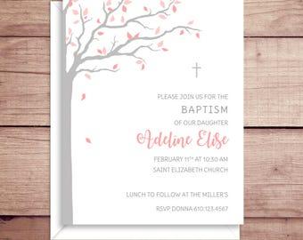 Baptism Invitations - Christening Invitations - Baptism Party Invitations - Baby Invitations - Custom Christening Invitations