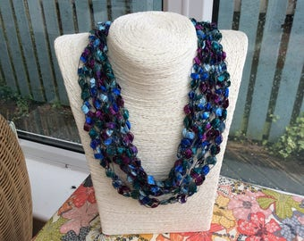 Beautiful, handmade ladder yarn necklaces.  Super lightweight, fully adjustable and hypo-allergenic..