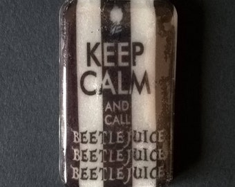 "Fancy and Original soap  "" KEEP CALM & Call Beetlejuice ... ""  -Tim burton - Sweet Almond fragrance"