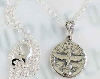 Necklace - Holy Spirit Sterling Silver 17.5mm