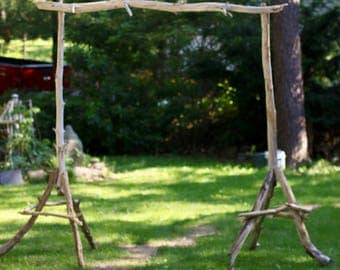 Simple Driftwood Wedding Arch