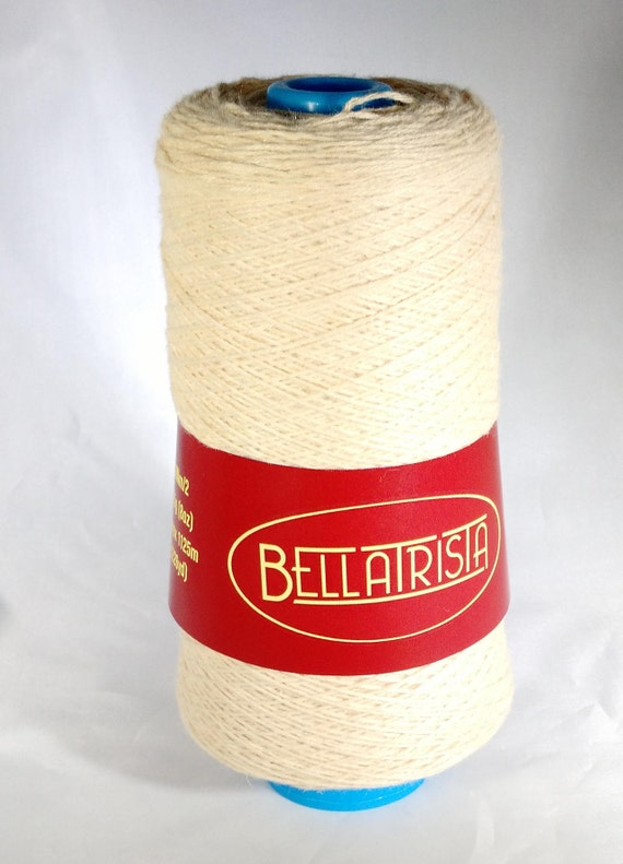 Soy yarn for weaving. Lace weight, undyed.