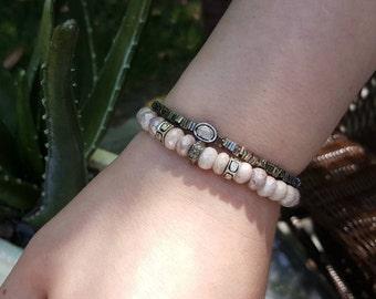 Silverite Bracelet - Pink Silverite Pave Diamonds Bracelet - Pave Diamonds Bracelet - Rose Cut Diamonds - Pave Diamonds - Gemstone Bracelet