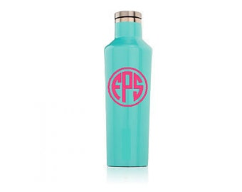 Personalized 16 oz Corkcicle canteen. Monogram or name available. Personalized canteens. Monogrammed Corkcicle