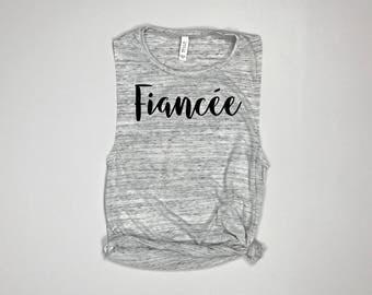 Fiancee, Fiance, Wifey, Fiancee tank, Fiancee shirt, Fiance tank, Fiance shirt, Couples shirt, Future wifey, Girlfriend to fiancee, mrs
