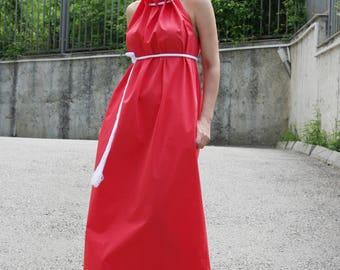 Kaftan / Maxi Dress / Summer Dress Pockets / Cotton Party Dress / Sleeveless Dress / Oversize / Dresses / Extravagant Dress / D20117