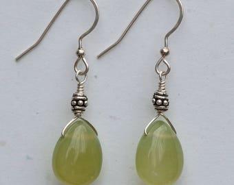 Olive Serpentine Earrings