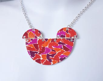 80s Pattern Bib Necklace, Statement, One off, Unique