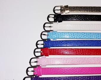 1 x 22cm - purple leather bracelet
