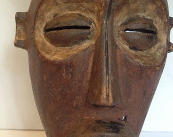 FREE SHIPPING - Vintage African Tribal Mask - Wall Decor - Artifact #3