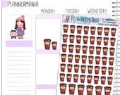 Tim Hortons Sticker Timmies Sticker Coffee Planner Sticker Canadian Sticker Hand Drawn Stickers Planner Accessories 048