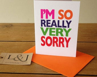 Apology Card - Sorry Card - Please Forgive Me - Funny Card - Funny Apology Card - I'm Sorry - Forgive Me Card - I'm Sorry Card - Apologise