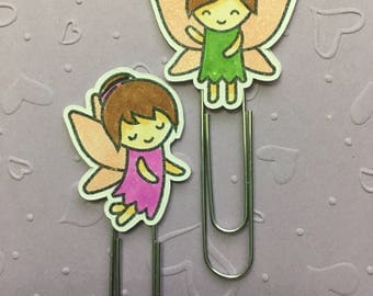 Fairies  - Fairy - Planner Paper Clip - Altered Paper Clip - Bookmark - Planner Accessory - Planner Clip Set - Happy Planner