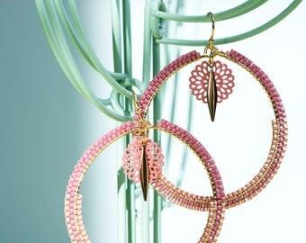FLOWER (Miyuki beads) earrings