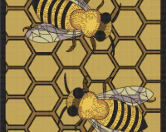 Bee Hive - Counted Cross Stitch PDF Pattern - Instant Download