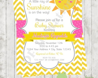 You Are My Sunshine Baby Shower Invitations   Printed Sunshine Baby Shower  Invitation By Dancing Frog