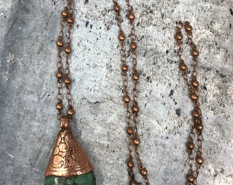 Copper Cased Tibetan Turquoise