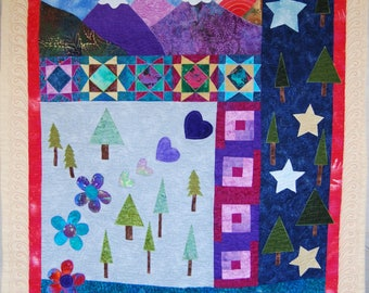 Mountains and Stars quilt