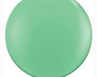 """36"""" (3ft) Giant Mint Latex Balloon. Solid colour balloon. giant balloon. round balloon. huge balloon."""