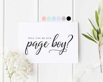 Will You Be Our Page Boy, Card For Page Boy, Page Boy Proposal Card, Page Boy Request Cards, Be My Page Boy, Wedding Card For Our Page Boy