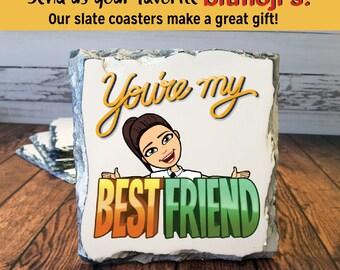 Bitmoji Coasters, Bitmoji Gift, Bitmoji Coasters, Coaster, Bitmoji Gifts
