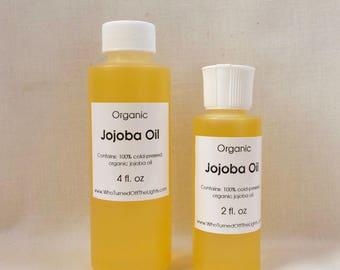 Organic Jojoba Oil - Golden, Unrefined, Cold Pressed