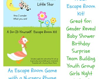 Room etsy twinkle twinkle nursery rhyme diy escape room kit gender reveal birthday surprise solutioingenieria Choice Image