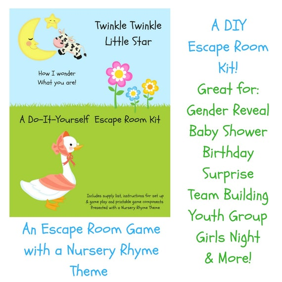 Twinkle twinkle nursery rhyme diy escape room kit gender reveal il570xn pin it solutioingenieria Image collections