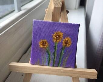 Tiny Sunflower Painting
