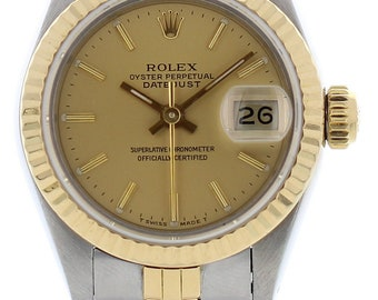 Ladies Rolex Oyster Perpetual Datejust 69173 W/ Papers