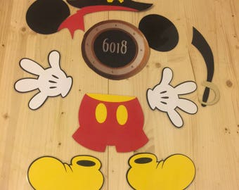 Pirate mickey mouse laminated stateroom cruise door magnet