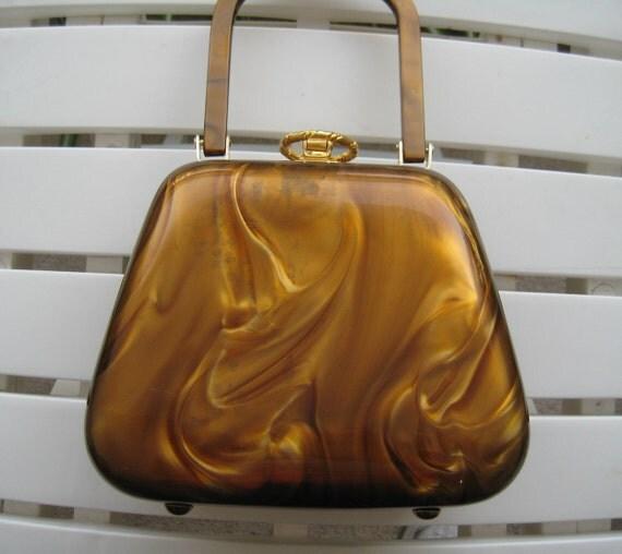 Classic Amber Lucite Handbag by Stylecraft Miami