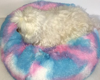 Small Dog Bed, Cotton Candy, Teacup dog bed, Small dog bed, Cat bed, Round dog bed
