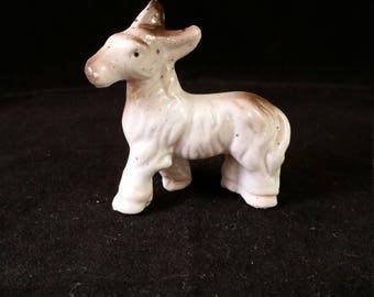Vintage Miniature Donkey Figurine