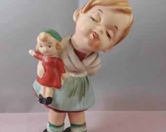 Lipper & Mann Girl with Doll Figurine