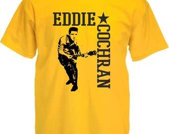 Eddie Cochran T-Shirt - Rock'n'Roll Icon, 1950's Image, Various Colours & Sizes