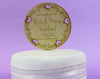 Rustic Wedding Cake Topper Etsy Uk
