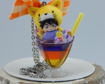 One Piece monkey D. Luffy Cocktail Necklace