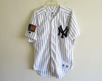 Vintage 1994 New York Yankees MLB 125th anniversary patch Diamond Collection baseball jersey | 44 (tag size) Medium-Large (fit)
