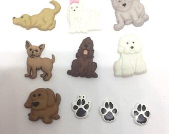 Dog Puppy Push Pins Thumb Tacks x10