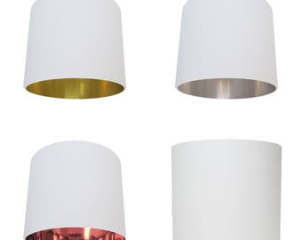 Off White Lampshade - Choice of Inner Lining