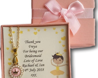 Personalised  childrens girls princess crown necklace jewellery  gift present Christmas Xmas