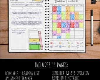 Bullet Journal - Academic - School - Student Planner - Printable - BUJO Pages