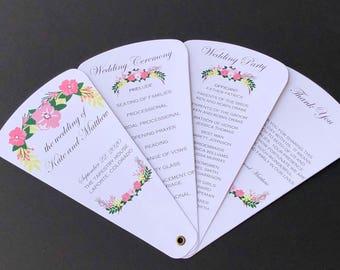 Rustic Floral Wedding Petal Fan